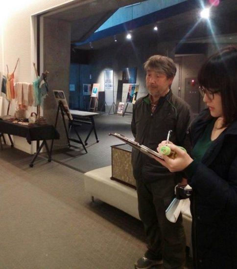 愛媛新聞から取材を受けました「五明の里 生活博物館展」